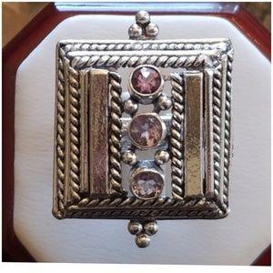 Jewelry - Unisex Amethyst Ring Size 8.5